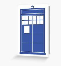 Minimal Shape Abstraction TARDIS Greeting Card