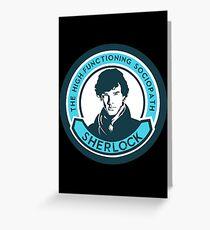 Sherlock Holmes. The high-functioning sociopath. Greeting Card