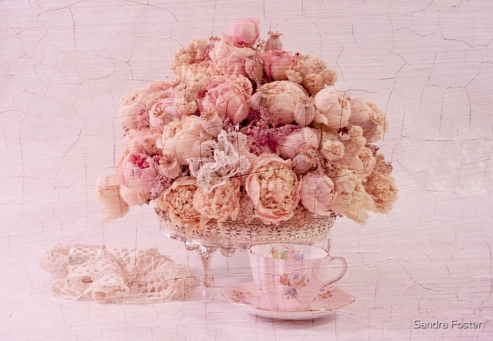 Dried Peony Still Life by Sandra Foster