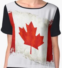 Canadian Flag  Chiffon Top