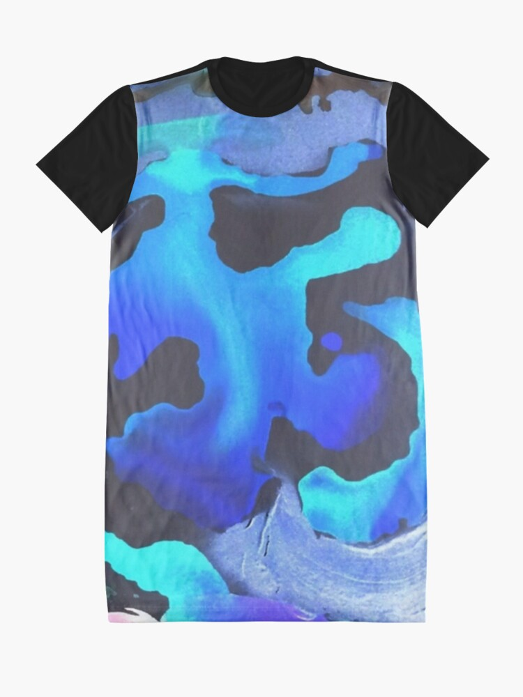 Alternate view of Swim with the Mermaids in the Great Natural Deep Blue Sea Graphic T-Shirt Dress
