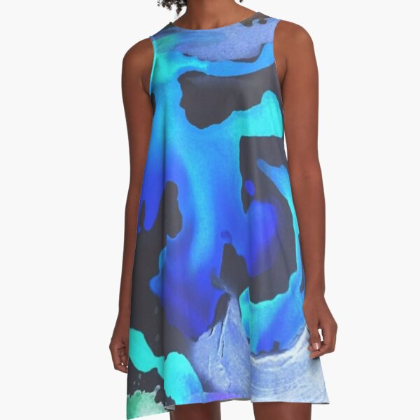 Swim with the Mermaids in the Great Natural Deep Blue Sea A-Line Dress