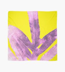 Green Fern on Bright Yellow Inverted Scarf