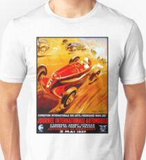 AUTO RACING: Vintage Racing Advertising Print T-Shirt