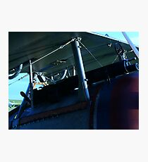 WWI Biplane Machine Gun Photographic Print