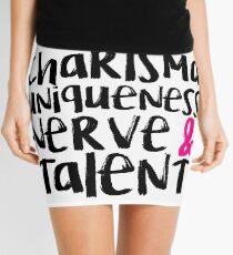 Charisma, Uniqueness, Nerve, & Talent Mini Skirt