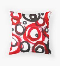 Circles Abstract Throw Pillow