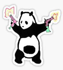 One Angry Panda Sticker