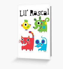 Lil' Rascal Critters Greeting Card