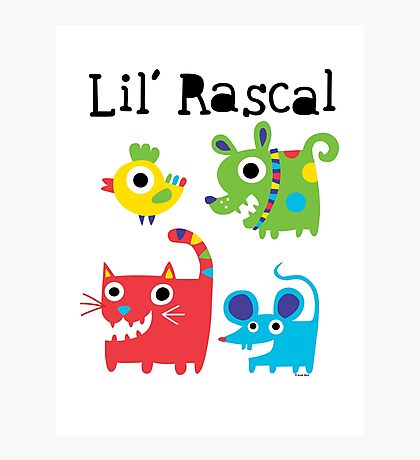 Lil' Rascal Critters Photographic Print