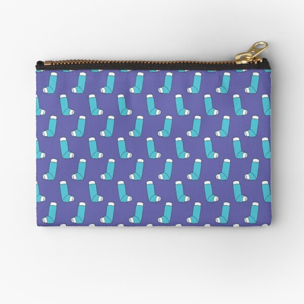 inhaler for asthma pattern Zipper Pouch