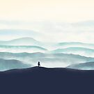 Girl looks at the mountains by jenteva