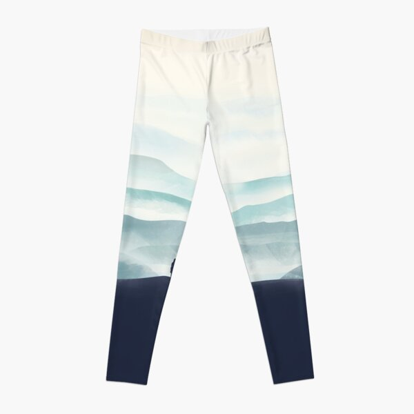 Girl looks at the mountains Leggings