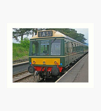 Diesel Railcar Art Print