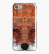 fox. polygonal graphics iPhone Case/Skin