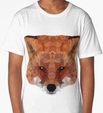 fox. polygonal graphics Long T-Shirt