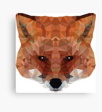fox. polygonal graphics Canvas Print