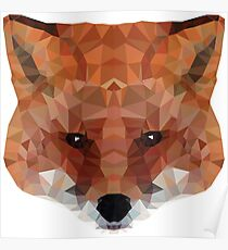 fox. polygonal graphics Poster