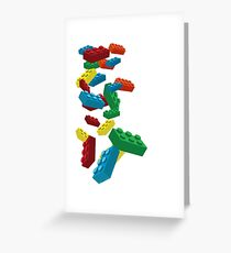 Falling Legos Greeting Card