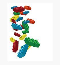 Falling Legos Photographic Print