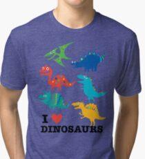 I love dinosaurs Tri-blend T-Shirt