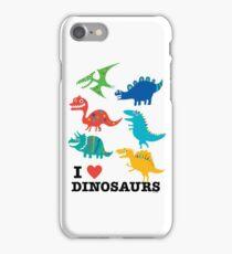 I love dinosaurs iPhone Case/Skin