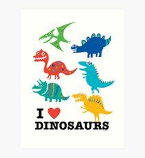 I love dinosaurs Art Print