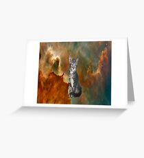 Cat in Outer Space 4 Greeting Card