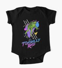 Body de manga corta para bebé Toadally Rad