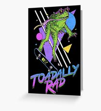 Toadally Rad Greeting Card