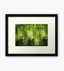Green Water Abstract Framed Print