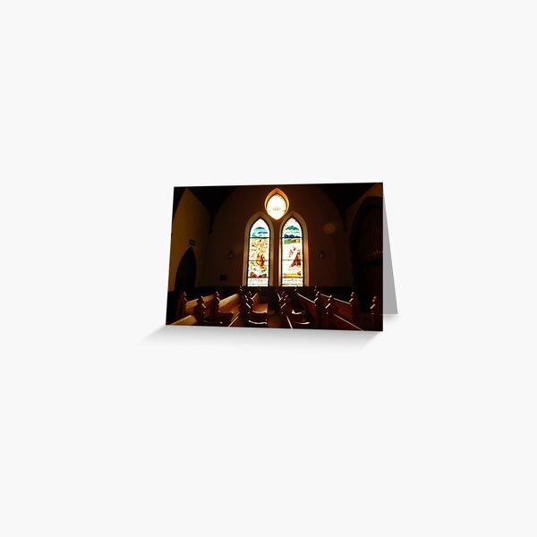 UVA Little Stone Church - Interior    ^ Greeting Card