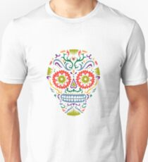 Sugar Skull SF multi 2 - on white Unisex T-Shirt