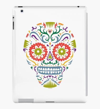 Sugar Skull SF multi 2 - on white iPad Case/Skin