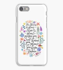Hope and A Future | Jeremiah 29:11 iPhone Case/Skin