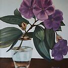 Vase of Tibouchina Flowers by STHogan