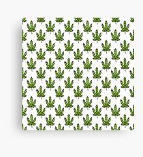 cannabis (marijuana leaf) pattern Canvas Print