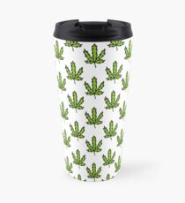 cannabis (marijuana leaf) pattern Travel Mug