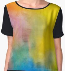 Colorful Abstract Chiffon Top