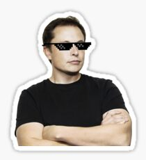 Elon Musk Deal With It Sticker