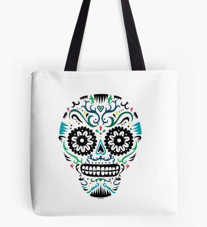 Sugar Skull SF multi om white Tote Bag