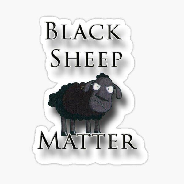 BLACK SHEEP Coaster Drinks Mat Fun Novelty Lamb Farm Farmer Gift Present Idea