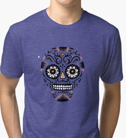 Sugar Skull SF -  on white Tri-blend T-Shirt