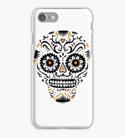 Sugar Skull SF -  on white iPhone Case/Skin