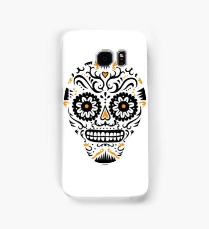 Sugar Skull SF -  on white Samsung Galaxy Case/Skin