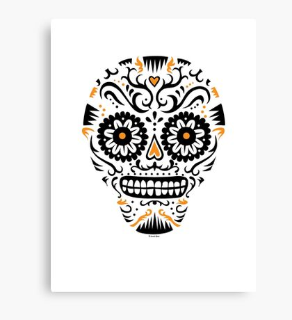Sugar Skull SF -  on white Canvas Print