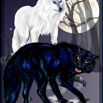 Two Wolves by Lotacats
