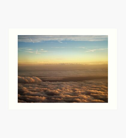 the sky was all aglow Art Print