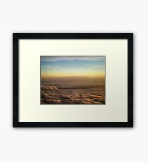the sky was all aglow Framed Print