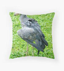 Aristocratic Stork Throw Pillow